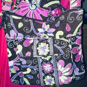 Vera Bradley Purple Punch Hipster Crossbody Bag